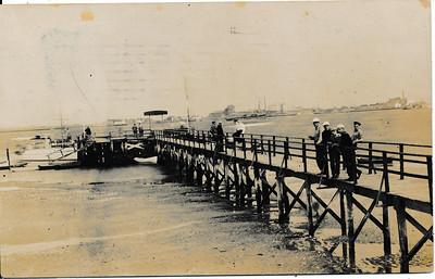 Dock on Rockaway Point, L.I.