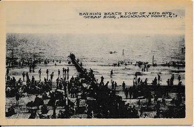 Bathing Beach Foot of Reid Ave., Ocean Side, Rockaway Point, L.I.