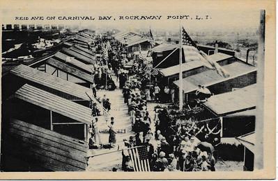 Reid Ave on Carnival Day, Rockaway Point, L.I.