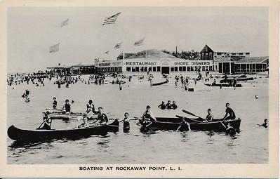 Boating at Rockaway Point, L.I.