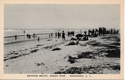 Bathing Beach, Ocean Side, Rockaway, L.I.