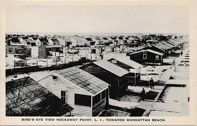 Birds-Eye View Rockaway Point, L.I., Towards Manhattan Beach.