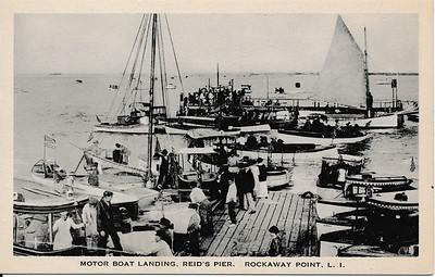 Motor Boat Landing, Reid's Pier, Rockaway Point, L.I.