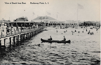 View of Beach from Boat, Rockaway Point, L.I.