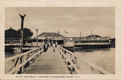 Hotel & Boat Landing at Rockaway Point, N.Y.