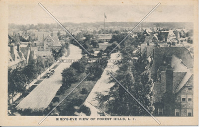 Aerial view, Forest Hills
