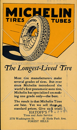 Michelin Tire ad, Forest Hills