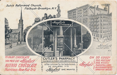 Huyler's Candies, Cutler's Pharmacy Flatbush & Church Aves., Brooklyn, N.Y.