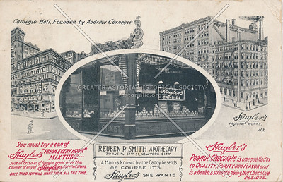 Huyler's Candies, Reuben R. Smith Apothecary, 7th Ave & 57th St, New York City, N.Y.