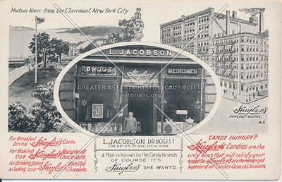 Huyler's Candies, L. Jacobson Druggist, Cor. 119th St & 7th Ave, N.Y.