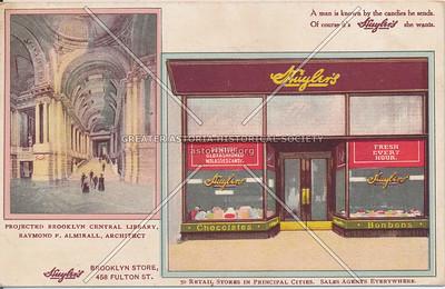 Huyler's Chocolate, Brooklyn Store, 458 Fulton St., N.Y.