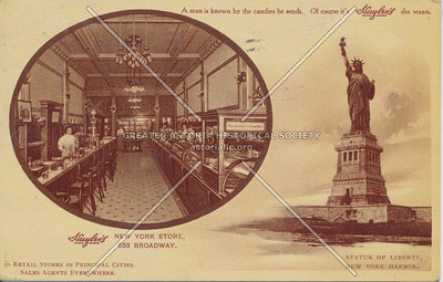 Huyler's New York Store, 633 Broadway, Statue of Liberty, N.Y.
