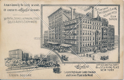 Huyler's Office & Factory, 18th St & Irving Place, N.Y.