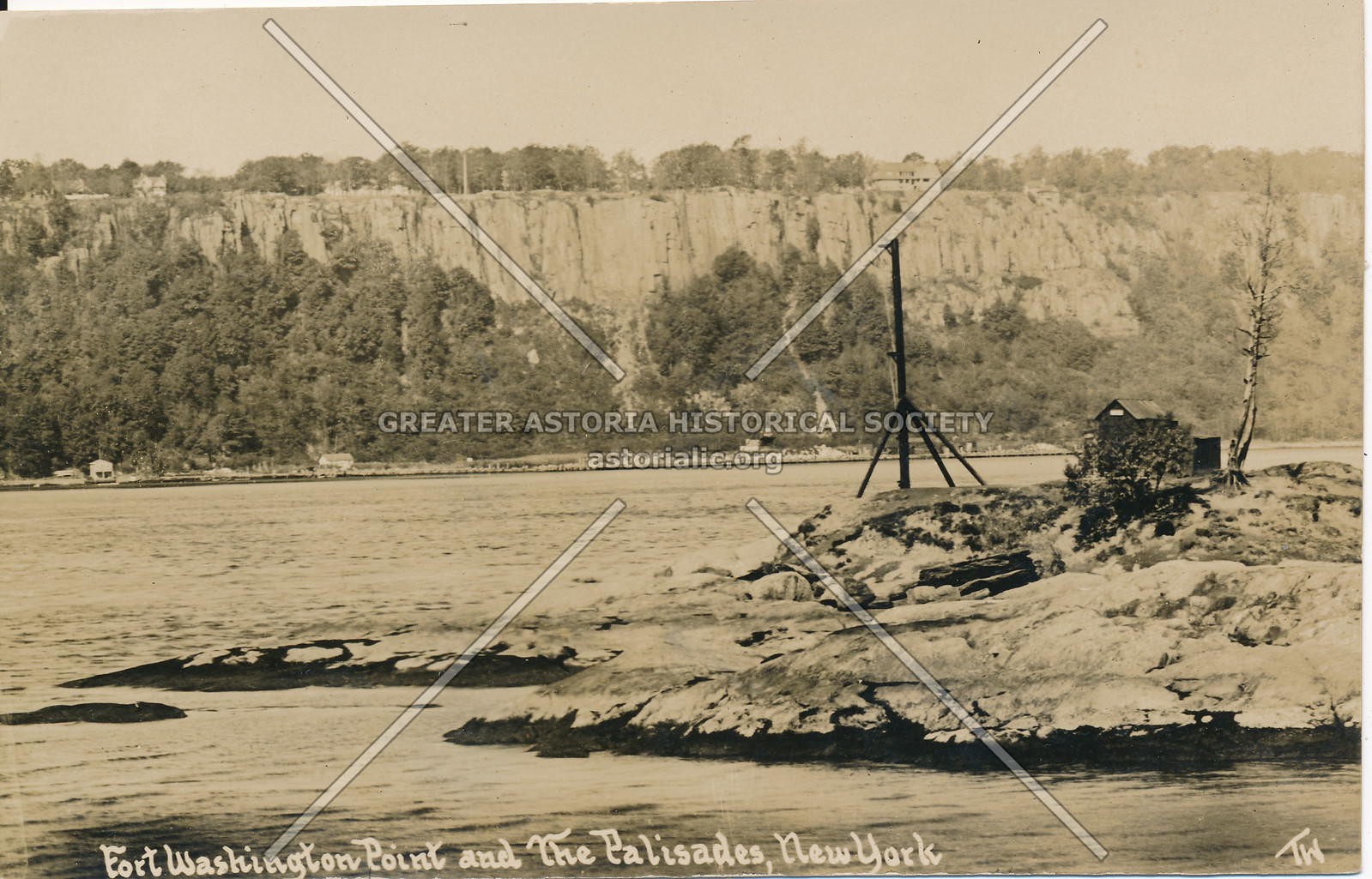 Fort Washington Point & the Palisades, N.Y.