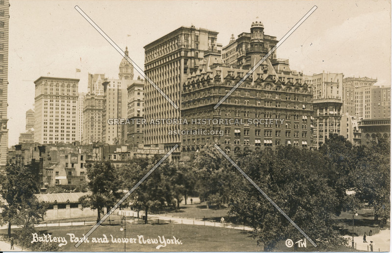 Battery Park & Lower New York, N.Y.