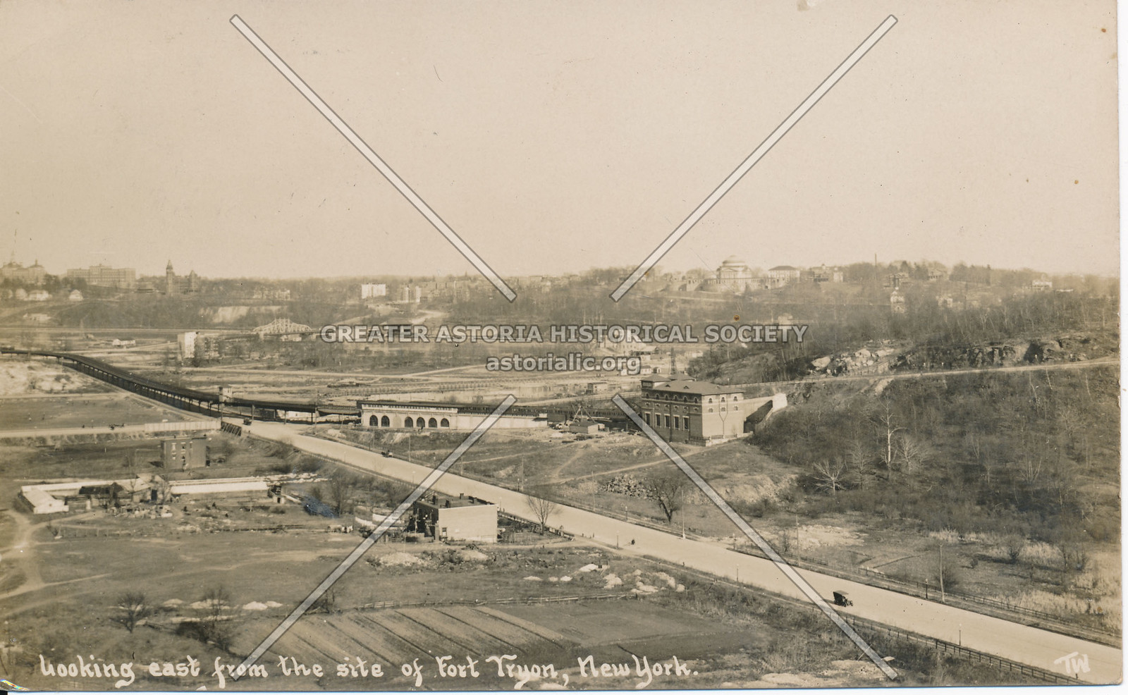 Looking East from the Fort Tyron, N.Y.
