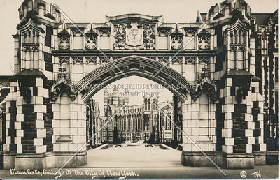 Main Gate, College of the City of New York, N.Y.