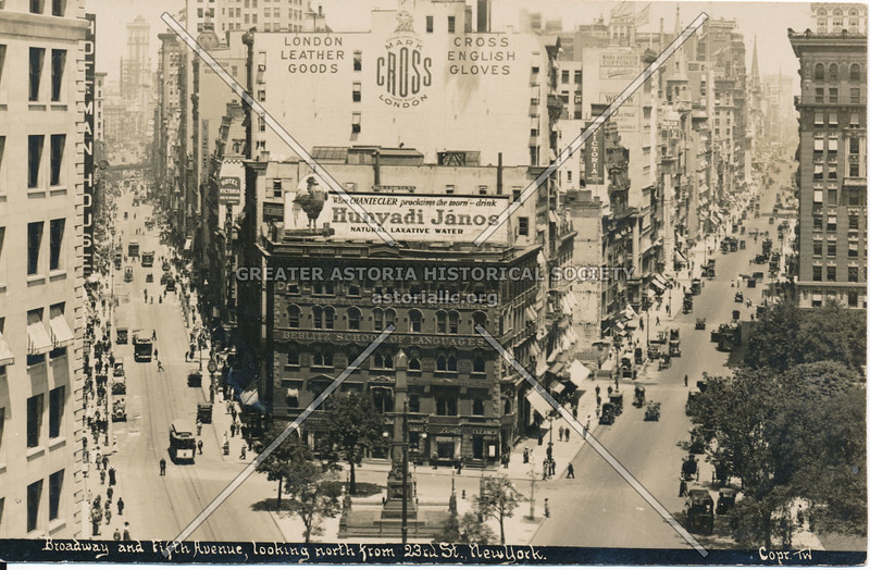Broadway & Fifth Ave., looking North from 23rd St., N.Y.