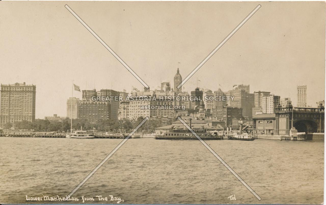 Lower Manhattan from the Bay, Manhattan, N.Y.