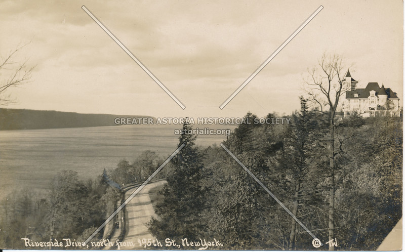 Riverside Drive, North from 195th St., N.Y.