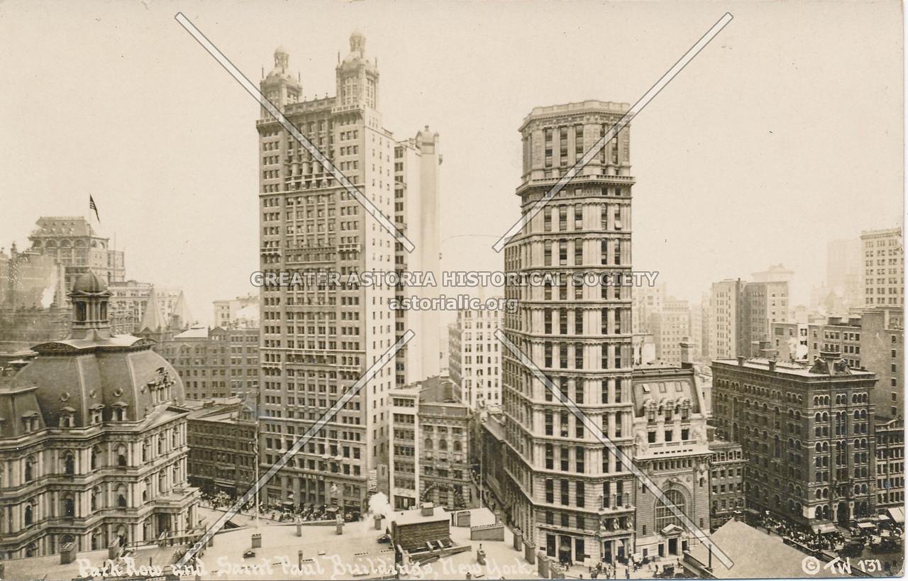 Park Row & Saint Paul Buildings, N.Y.