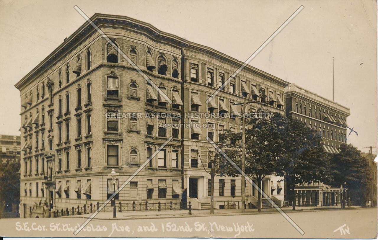 S.E. Cor, St. Nicholas Ave, & 152nd St., N.Y.
