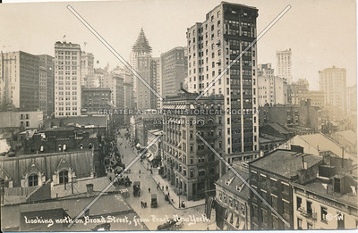 Looking North on Broad St, from Pearl St, N.Y.