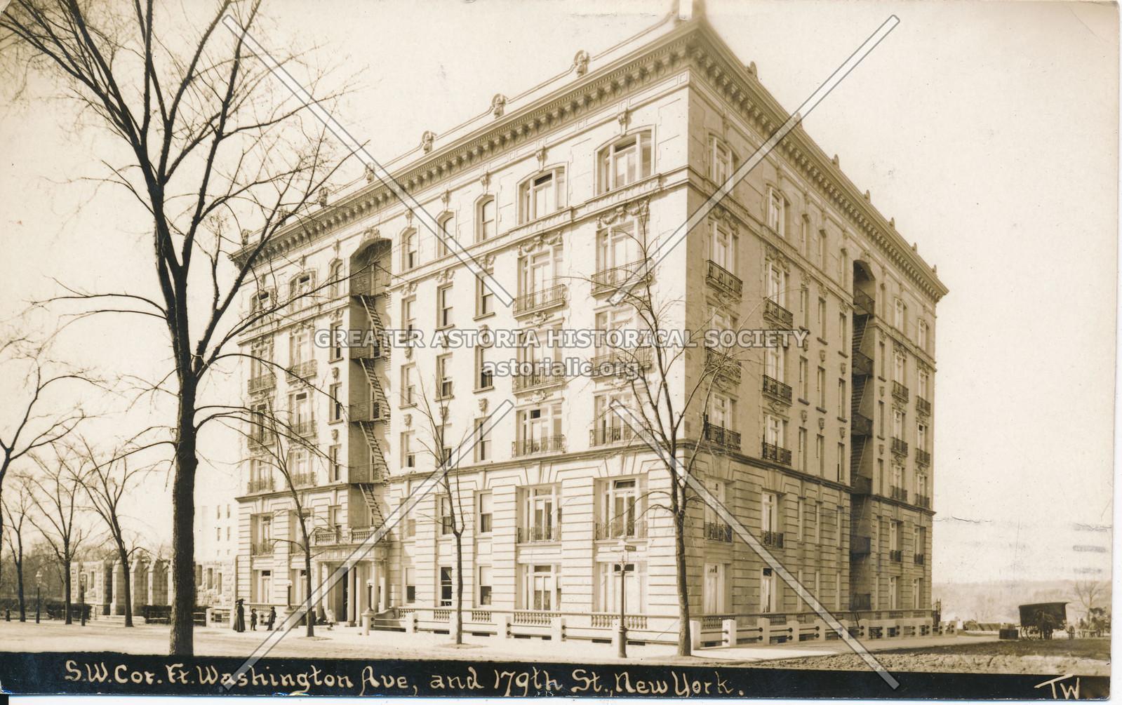 S.W. Cor., Fort Washington Ave, & 179th St., N.Y.
