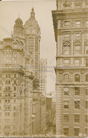 Broadway, North from Wall St., N.Y.