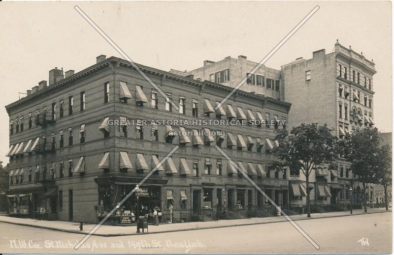 N.W. Cor., St. Nicholas Ave & 149th St., N.Y.