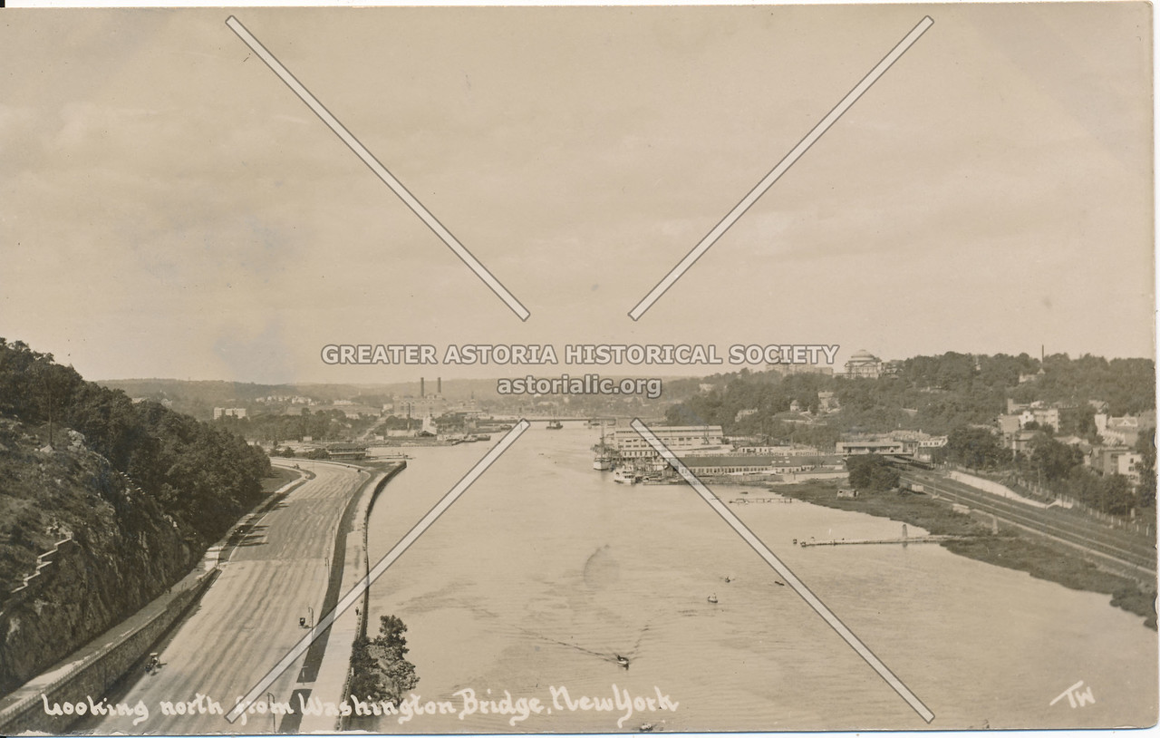 Looking North from Washington Bridge, N.Y.