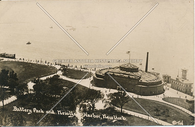 Battery Park & New York Harbor, N.Y.