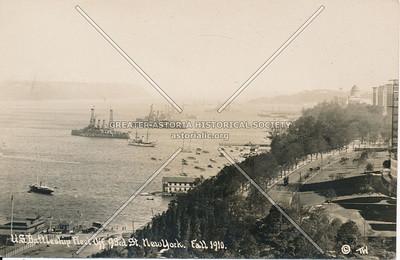 U.S. Battleship Fleet off 93rd St., N.Y. Fall 1910.