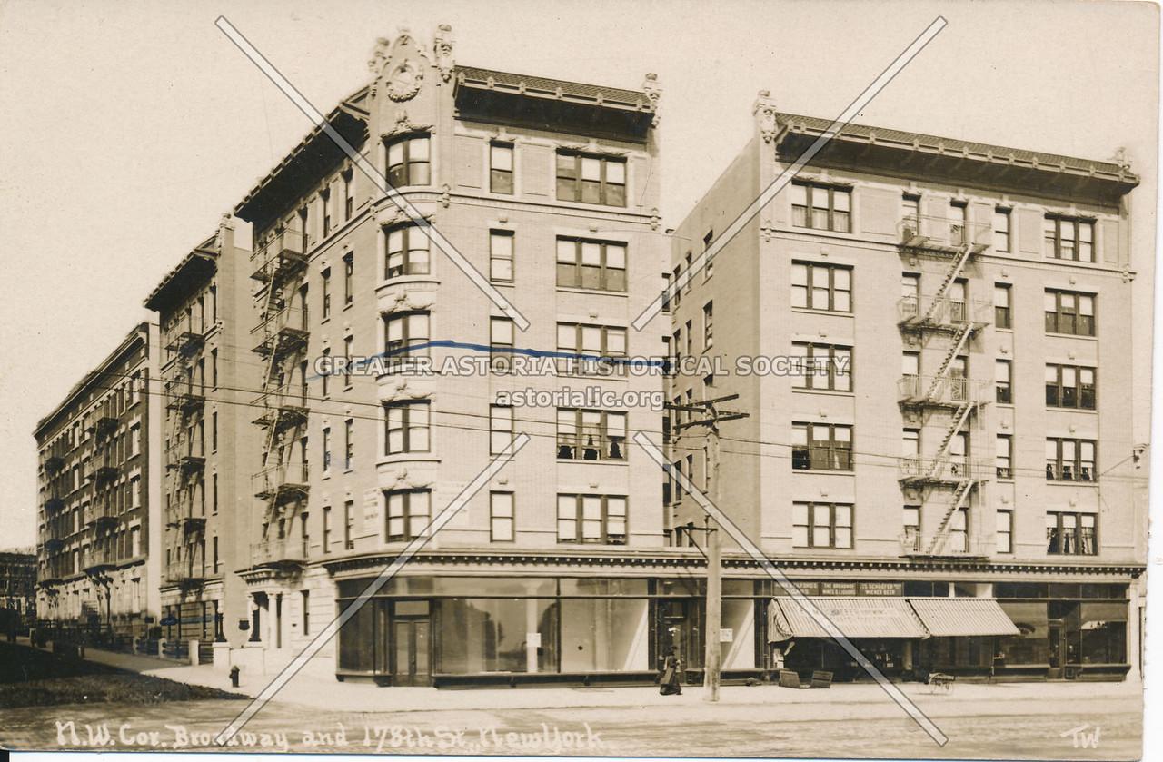 N.W. Cor., Broadway & 178th St., N.Y.
