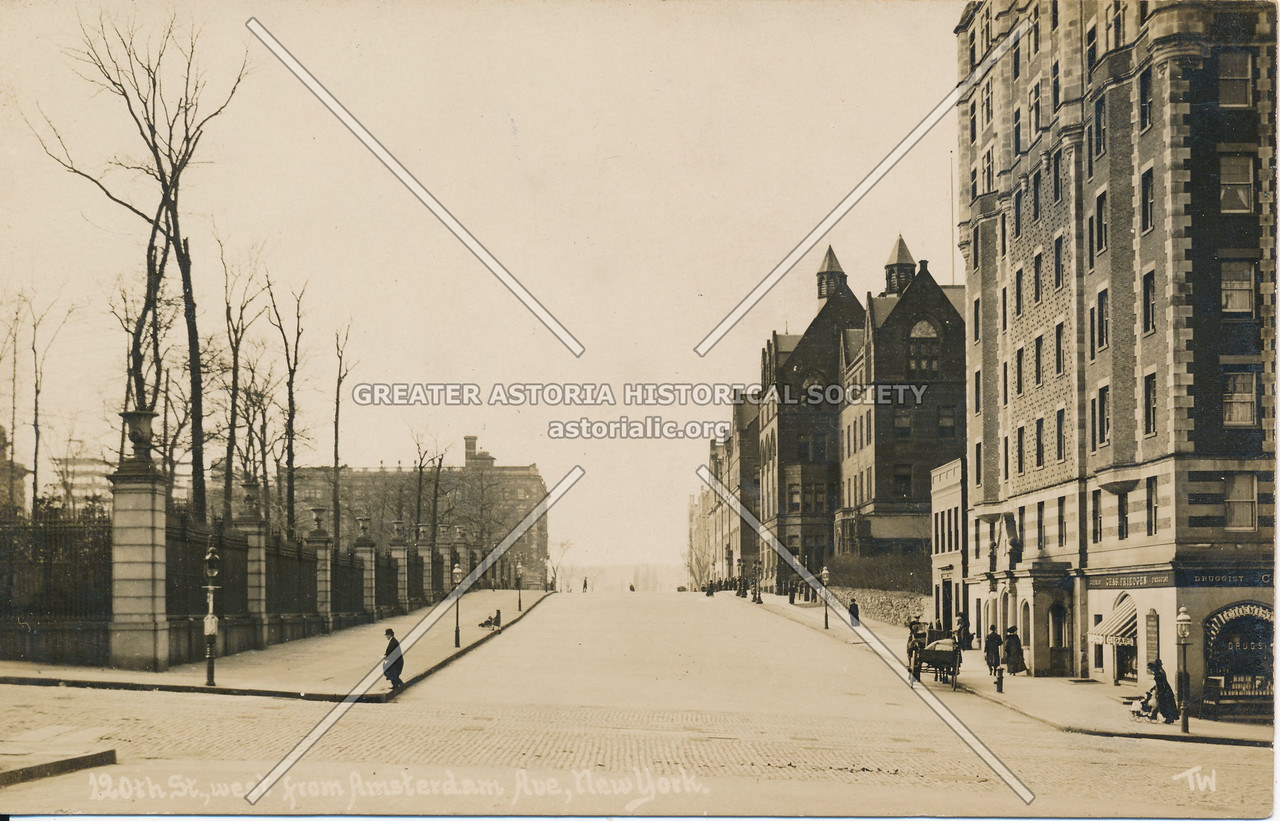 120th St., West from Amsterdam Ave., N.Y.