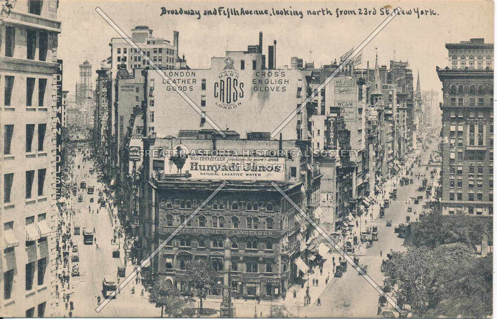 Broadway & Fifth Ave., looking North from 23rd St, N.Y.