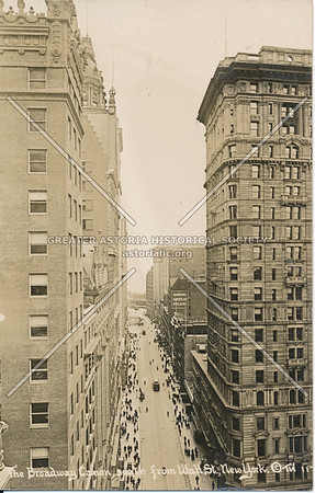 The Broadway Caon, South from Wall St., N.Y.