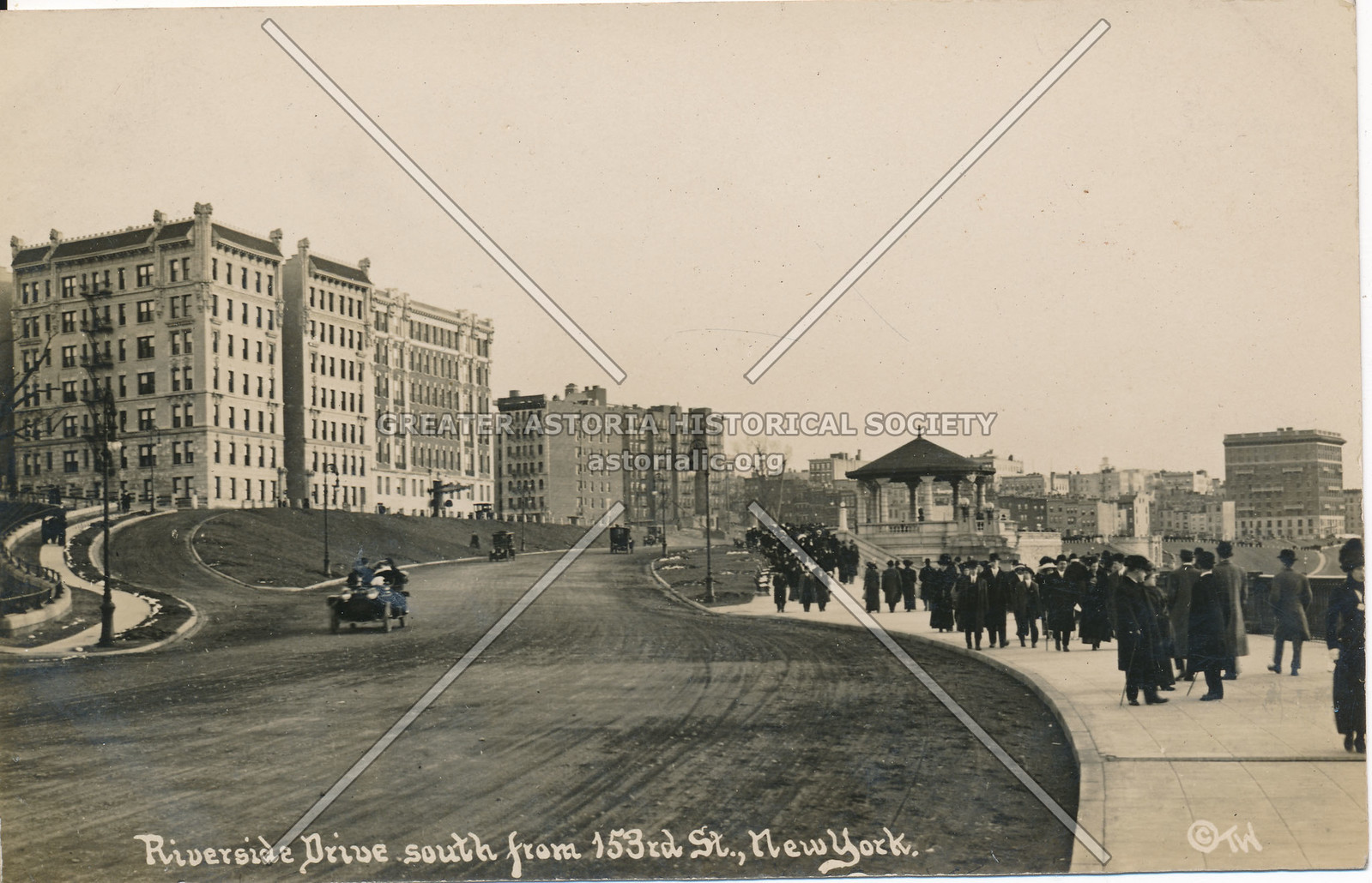 Riverside Drive, South from 153rd St., N.Y.