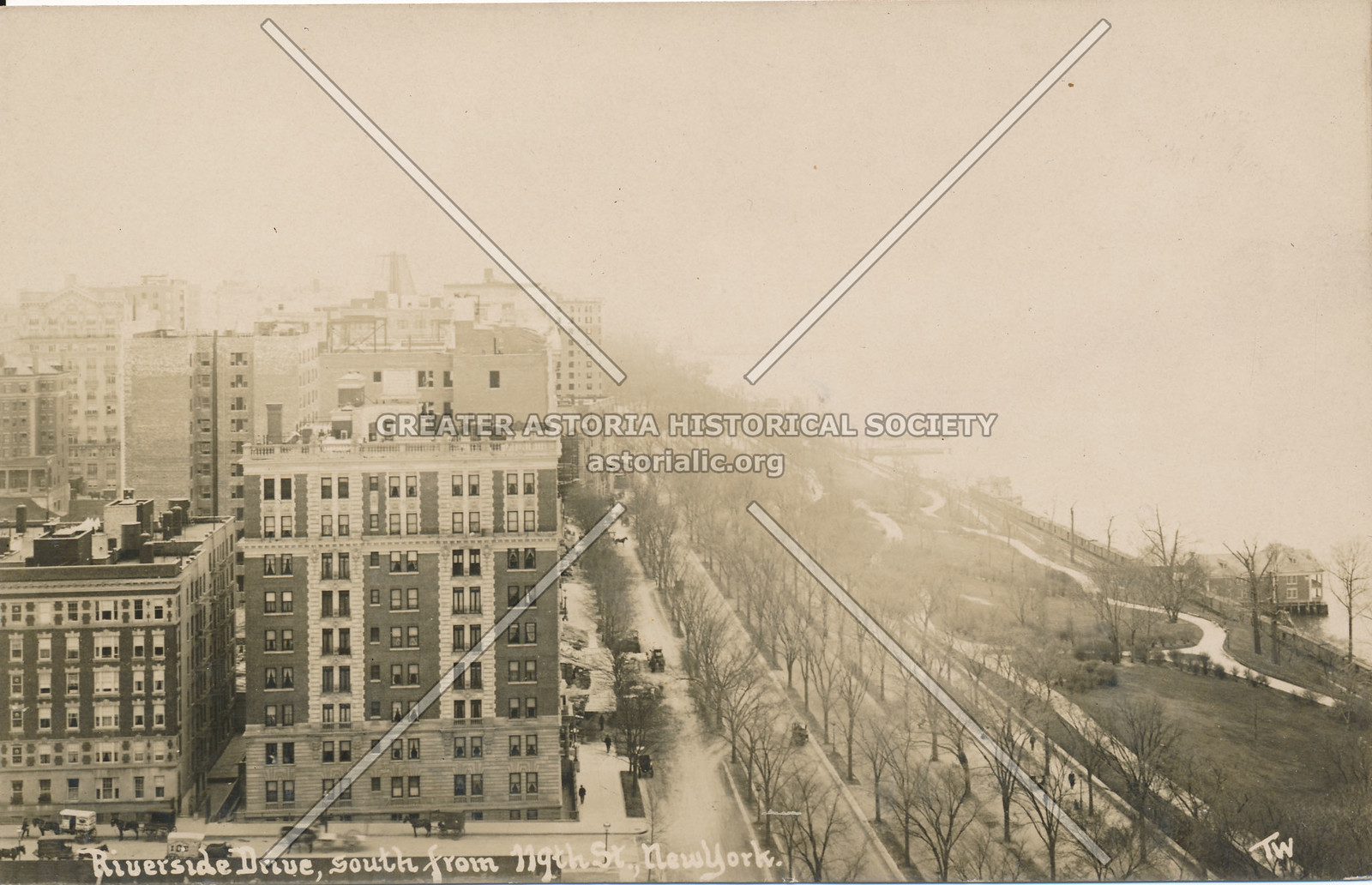 Riverside Drive, South from 119th St., N.Y.