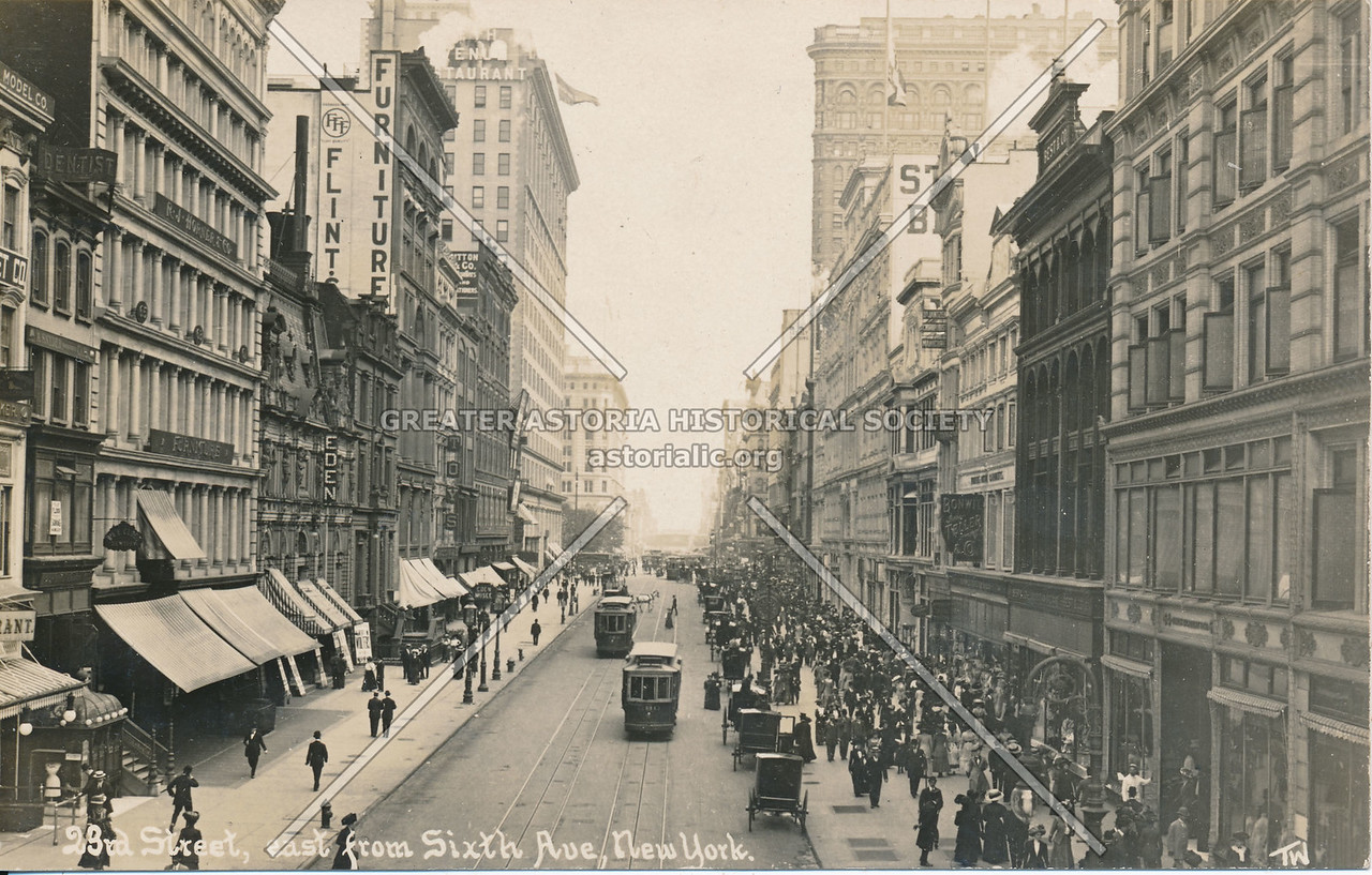 23rd St, East from Sixth Ave., N.Y.