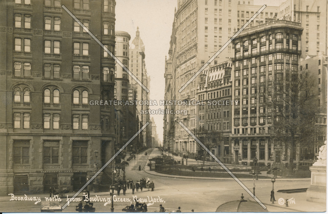 Broadway, North from Bowling Green, N.Y.