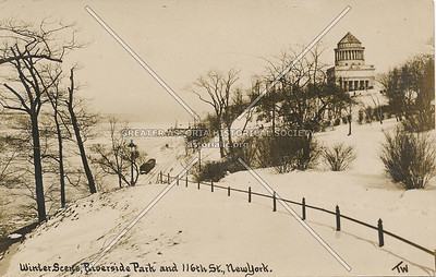 Winter Scene, Riverside Park & 116th St., N.Y.