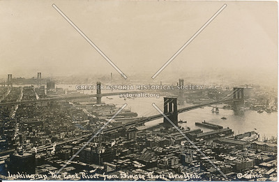 Looking up the East River from Singer Tower, N.Y.