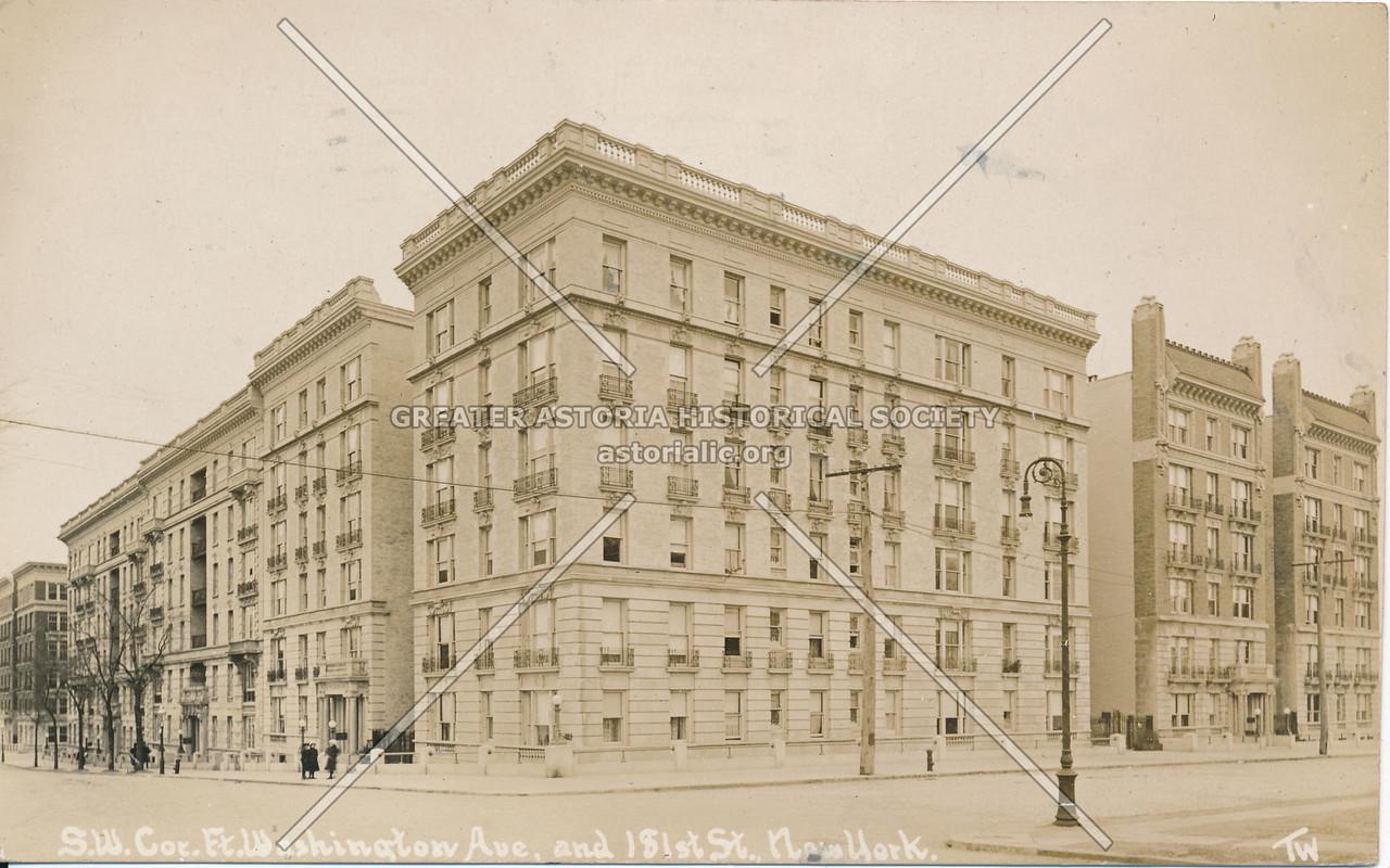 S.W. Cor., Fort Washington Ave & 181st St., N.Y.
