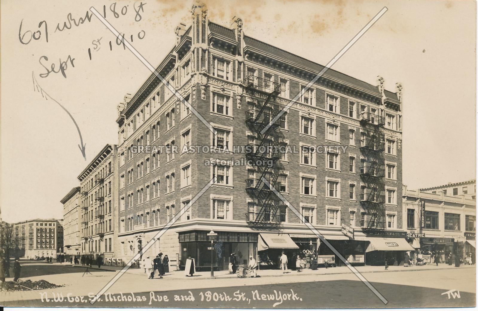 N.W. Cor., St. Nicholas Ave & 180th St., N.Y.