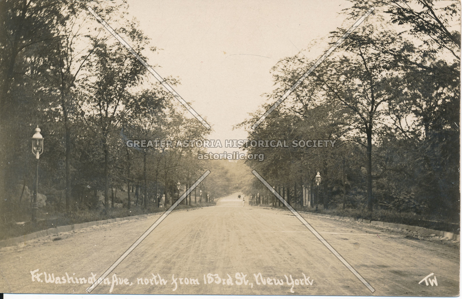 Fort Washington Ave, North from 183rd St., N.Y.