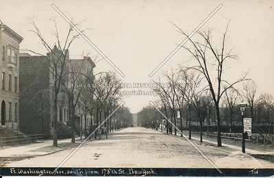 Fort Washington Ave, South from 178th St., N.Y.