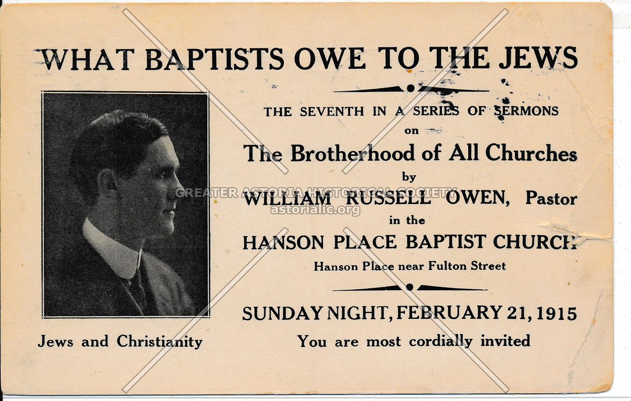 Hanson Place Baptist Church Sermon