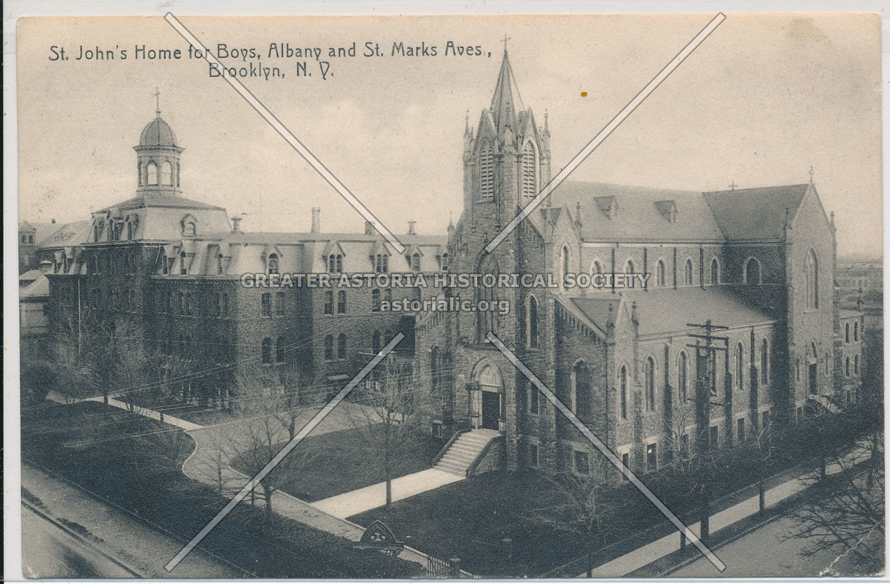 St. John's Home for Boys, Albany and St. Marks Aves, Bklyn