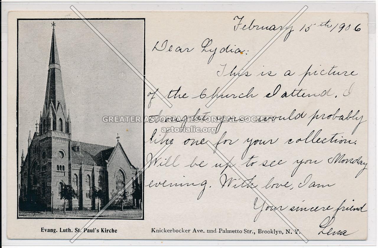 St. Paul's Kirche, Knickerbocker Ave., and Palmetto St., Bklyn